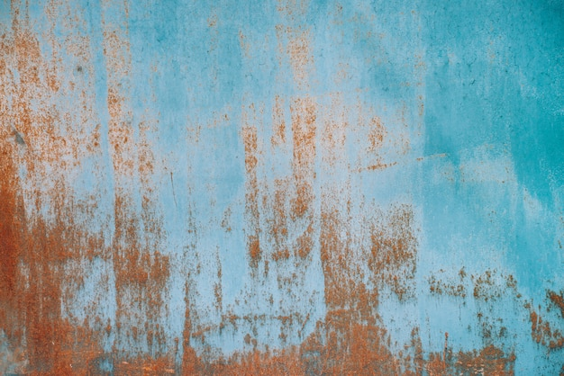 Rouille sur une surface métallique. texture de fer.