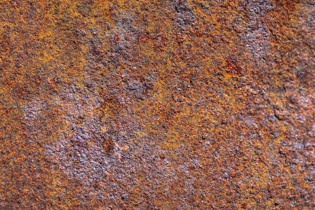 Rouille sur une surface métallique