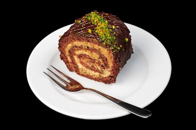 Roulé au chocolat et aux noix