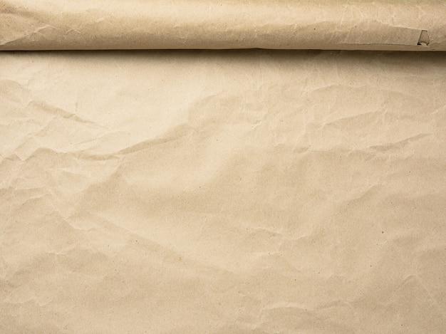 Rouleau de détails de papier parchemin brun
