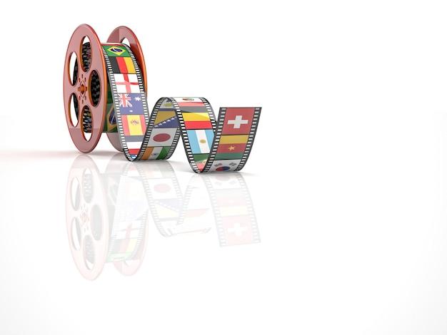 Rouleau de film de cinéma