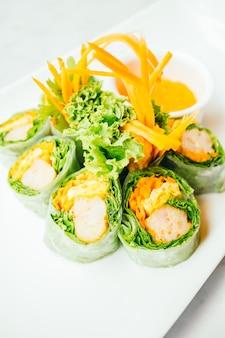Rouleau de printemps aux légumes