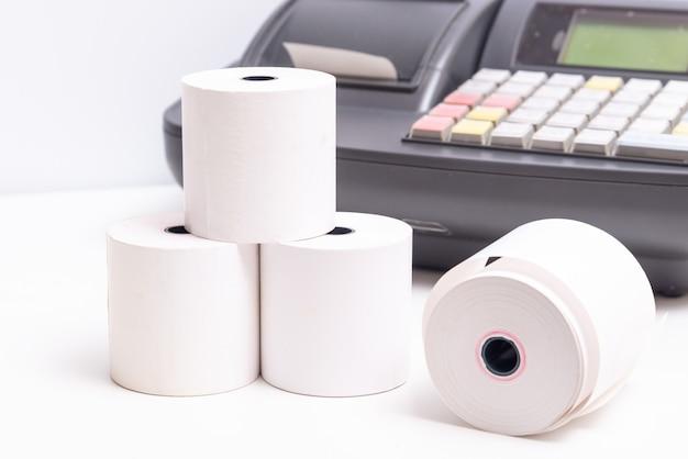 Rouleau de reçu papier de caisse enregistreuse