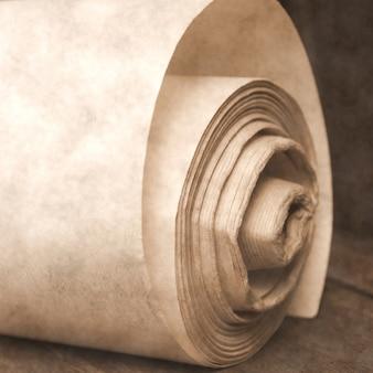 Rouleau de vieux papiers