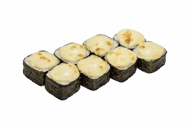 Rouleaux au nori et fruits de mer, cuits au four panés.