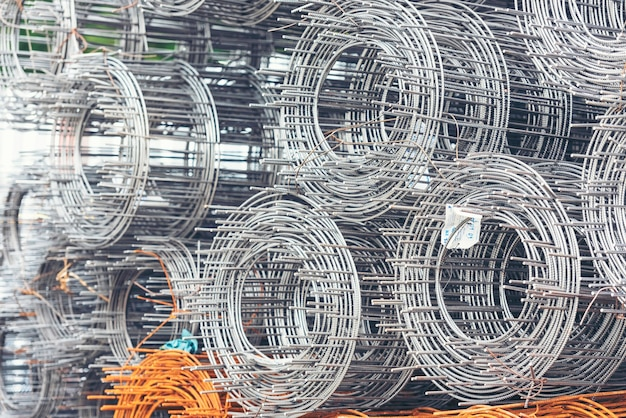 Rouleaux de fil de maille de matériel de construction de tôles galvanisées d'acier inoxydable de fer