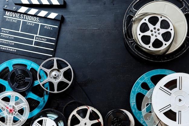 Rouleaux de films vidéo rétro