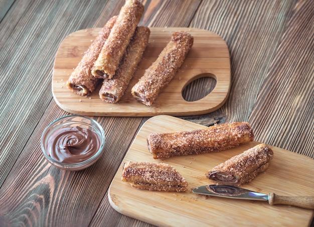 Rouleaux de pain grillé français