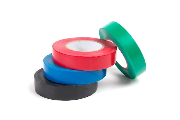 Rouleaux de ruban isolant coloré isolé