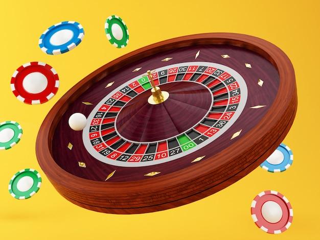 Roulette de casino 3d
