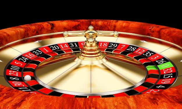 Roulette classique dorée