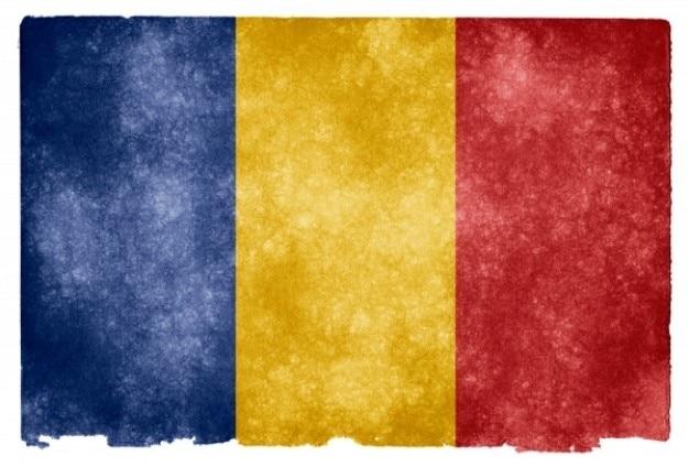 Roumanie drapeau grunge