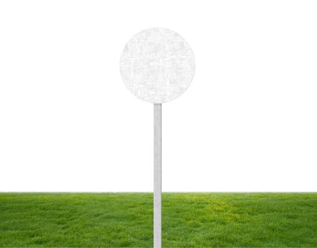 Round texture en béton sur un poteau