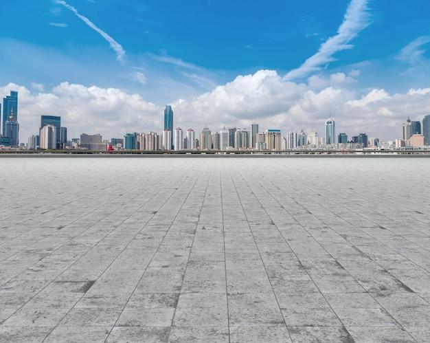 Route, centre-ville, autoroute, toile de fond, rue, shanghai