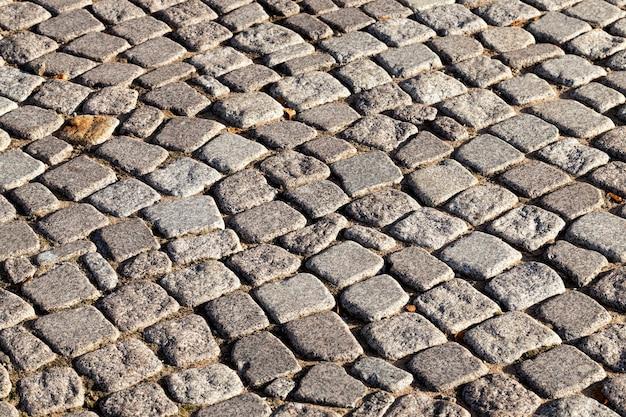 Route faite de texture de pavés