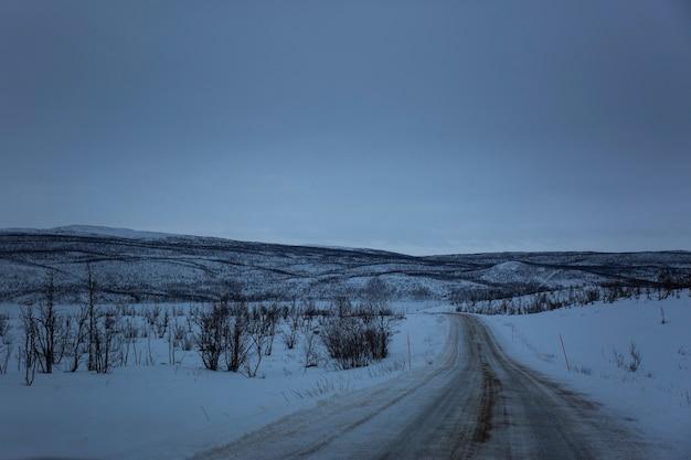 Route d'hiver à nuorgam