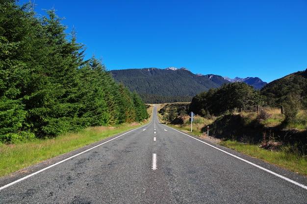 Route, sur, île sud, nouvelle zélande