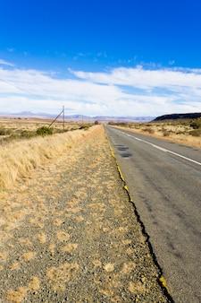 Route de perspective d'orange free state