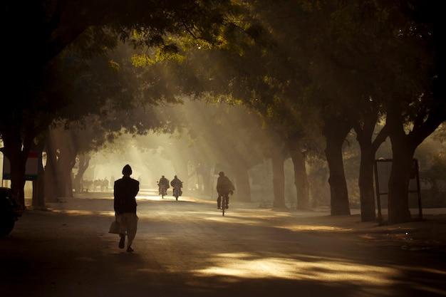 Route poussiéreuse de la scène rurale