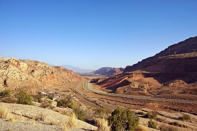 Route vers moab utah