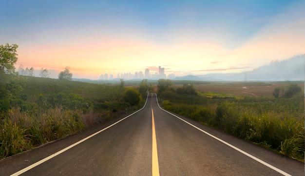Route vers la ville