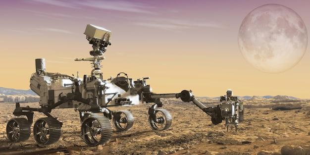 Rover de mars avec exploration de mars.