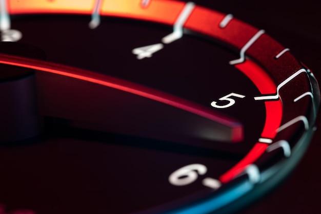 Rpm voiture odomètre détail symbole de puissance et de vitesse