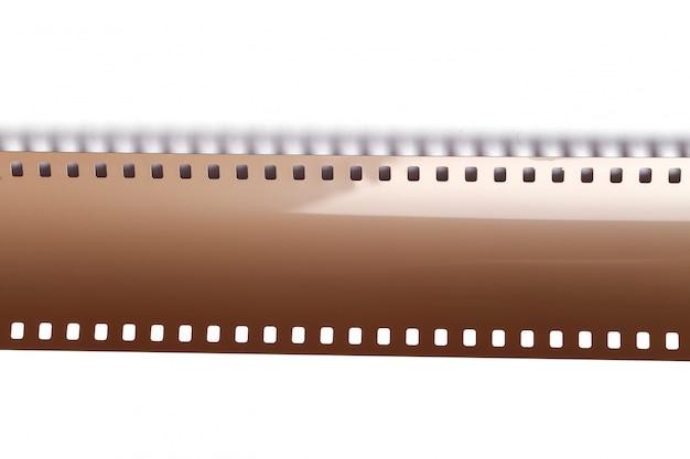 Ruban de caméra bobine vintage sur blanc