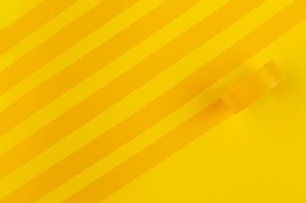 Ruban jaune plat