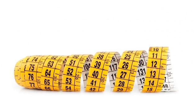 Ruban à mesurer jaune