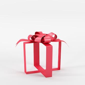 Ruban rouge exceptionnel sans boîte cadeau