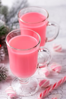 Ruby chocolat chaud ou cacao rose