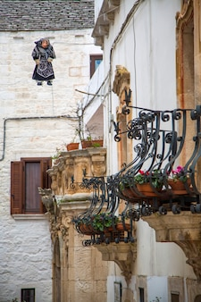 Rue à bari, italie