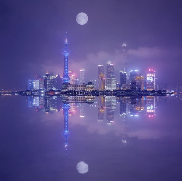 Rue beau centre célèbre jaune shanghai