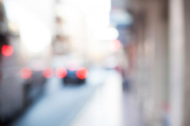 Rue avec des véhicules