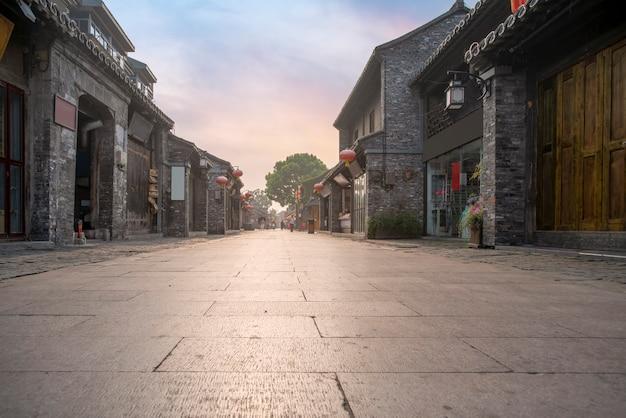 Rue de la ville antique de yangzhou, chine