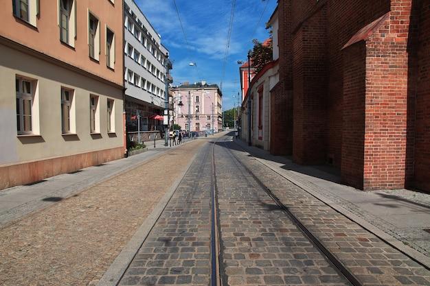 La rue de la ville de wroclaw en pologne