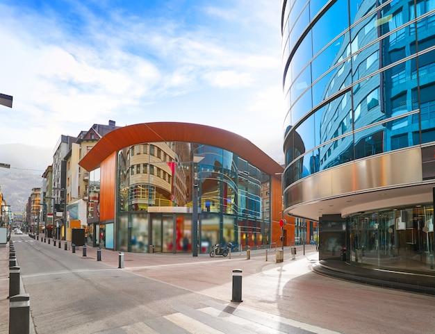 Rue de la zone commerciale d'andorre-la-vieille