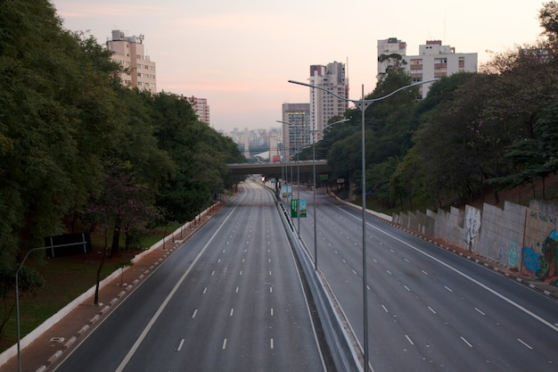 Rues vides à sao paulo - brésil