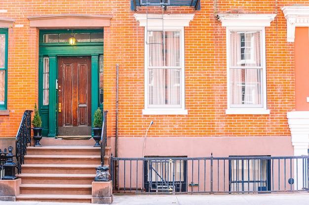 Rues vides de west village à new york manhattan, usa