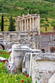 Ruines de l'ancienne ville d'éphèse en turquie