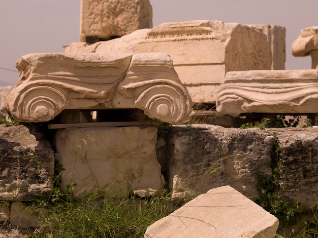 Ruines antiques d'athènes grèce
