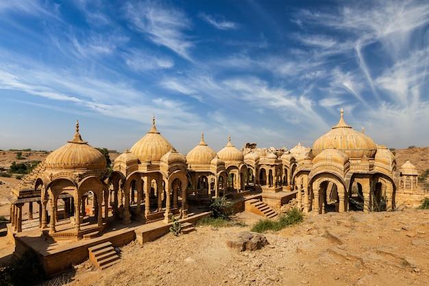Ruines de bada bagh à jodhpur, rajasthan, inde