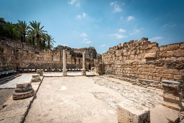 Ruines de beith shean en israël