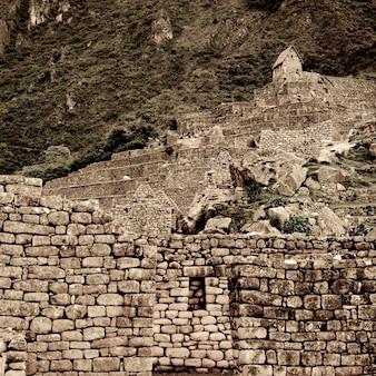 Ruines de la cité perdue des incas, machu picchu, région de cuzco, pérou