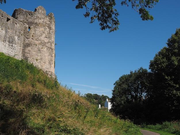 Ruines du château de chepstow à chepstow