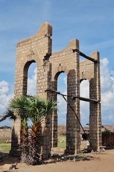 Ruines du petit village dhanushkodi eshwaram inde