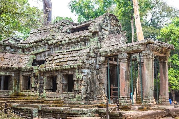 Ruines du temple ta prohm à angkor wat à siem reap, cambodge