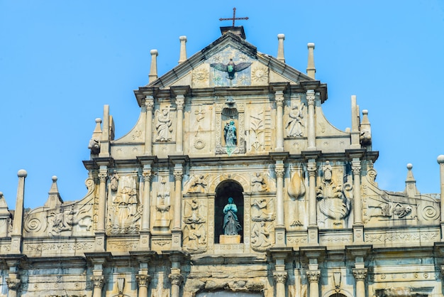 Ruines de l'église saint-paul dans la ville de macao