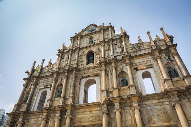 Ruines de l'église saint-paul à macao